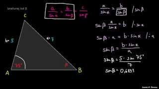 Razreševanje trikotnika – naloga 3