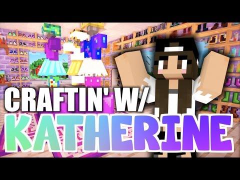 Minecraft Clothing Shop + Fashion Show! Craftin' w/ Katherine Ep. 6