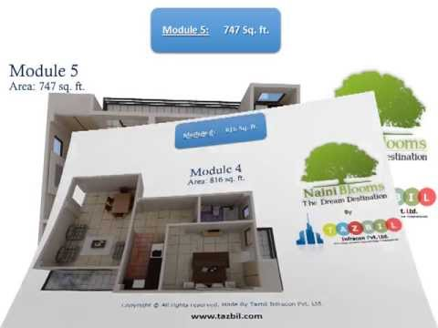 Naini Blooms :: Residential Project  :: All 3D ::Tazbil Infracon Pvt. Ltd.