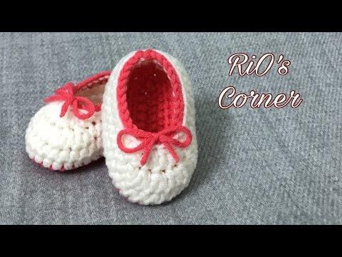 [Crochet] Baby shoes | Móc giày nơ xinh cho bé