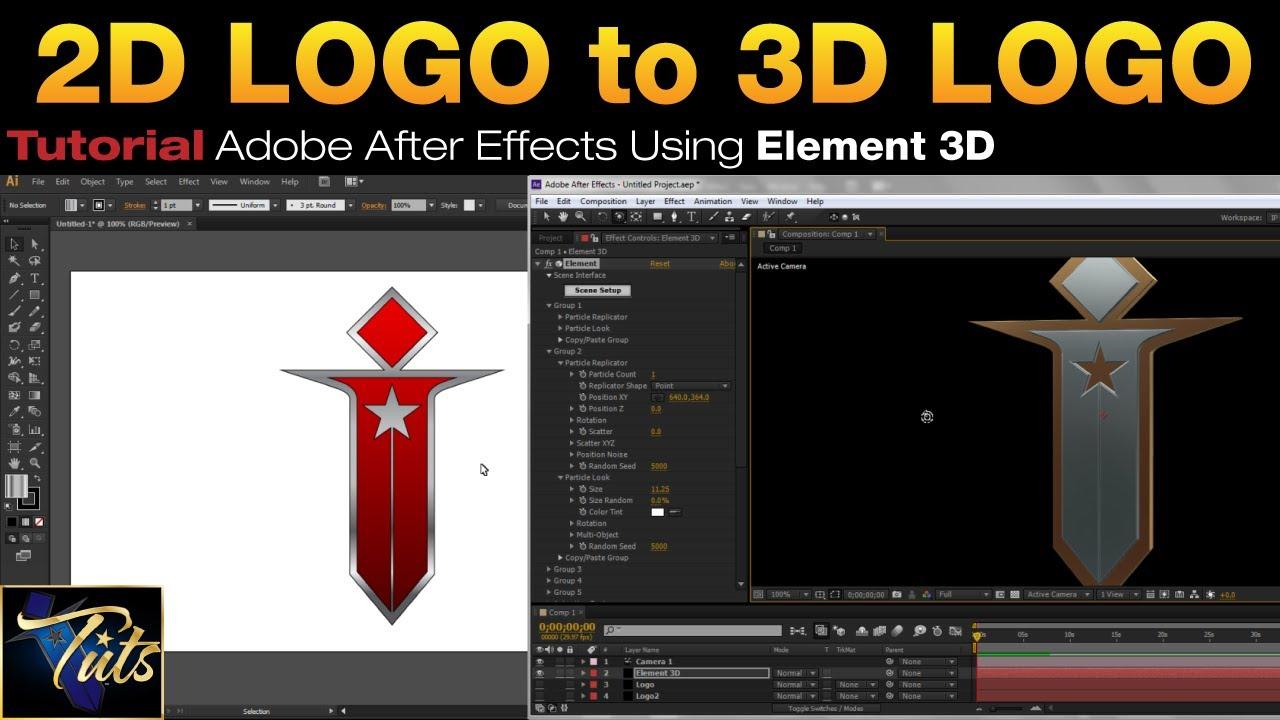 Logo en element 3d download