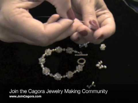 How to Make Jewelry: How To Make a Crystal Beaded Bead Bracelet
