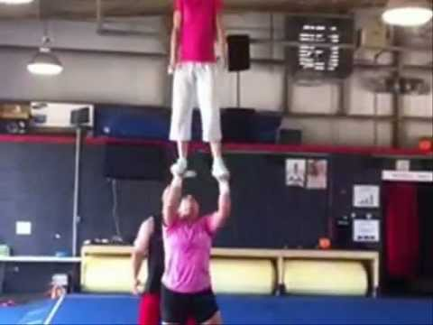 More Girls Lifting Girls Overhead