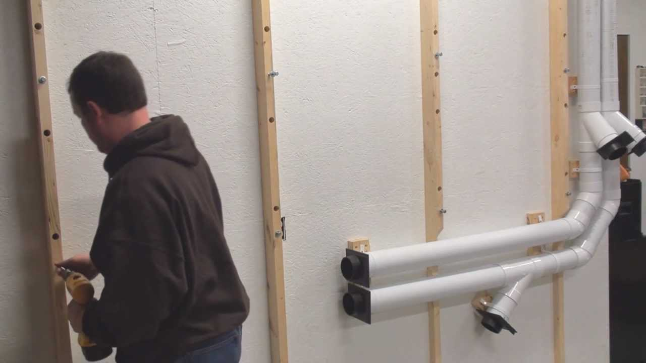 Lumber Storage Rack From 2x4 And Pipe In Garage Wood Shop