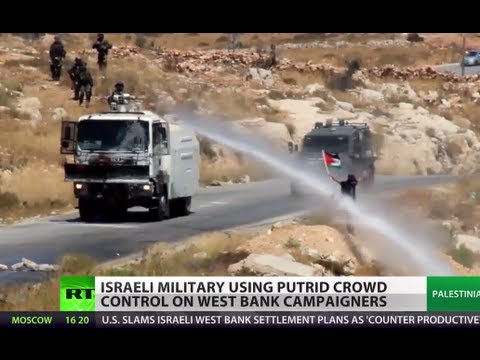 Crap Cannon: Israel sprays putrid liquid to control West Bank crowd