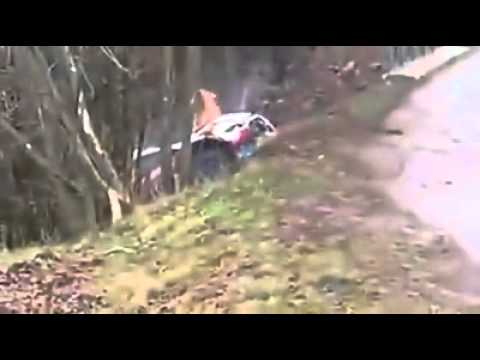 Robert Kubica Crash @ 2014 WRC Monte Carlo