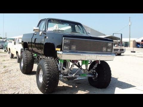 Huge 1986 Chevy C10 4x4 Monster Truck - All Chrome Suspension - 383 Stroker