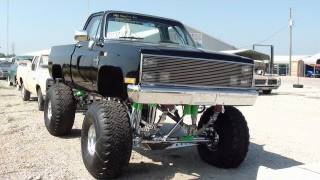 Huge 1986 Chevy C10 4x4 Monster Truck All Chrome