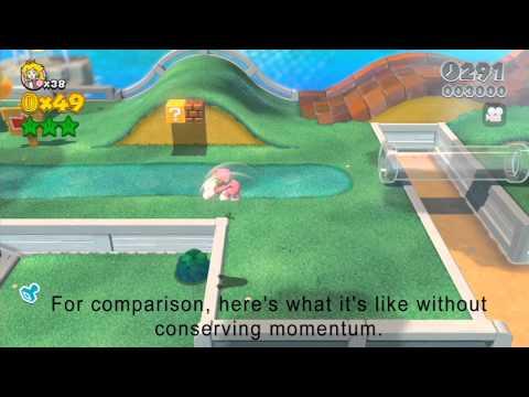 Super Mario 3D World - Cat dive momentum conservation glitch/exploit