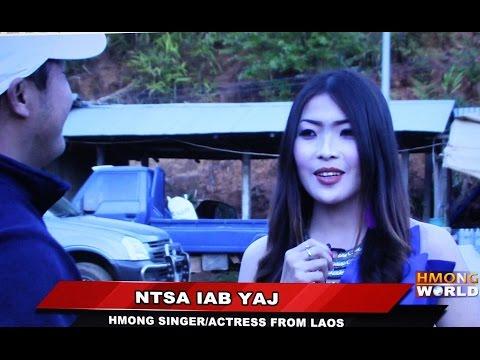 HMONGWORLD: NTSA IAB YAJ, Hmong Singer/Actress from Laos - Interview  @ Phu Chi Fa, Thailand