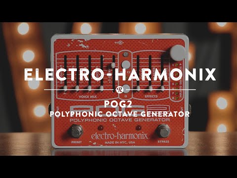 Electro Harmonix POG 2 Polyphonic Octave Generator Effects Pedal for Guitar