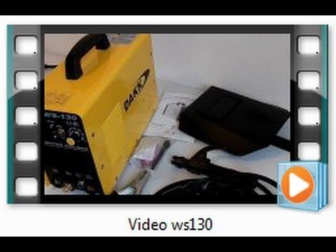 Máquina de solda TIG e INVERSORA para eletrodos DAKK WS-130