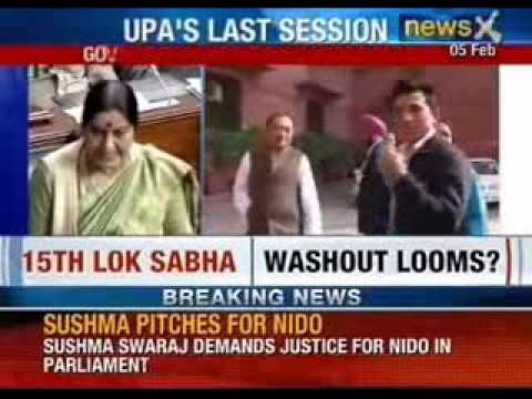 Strong uproar in Parliament Session on Telangana bill and Nido's death  - NewsX