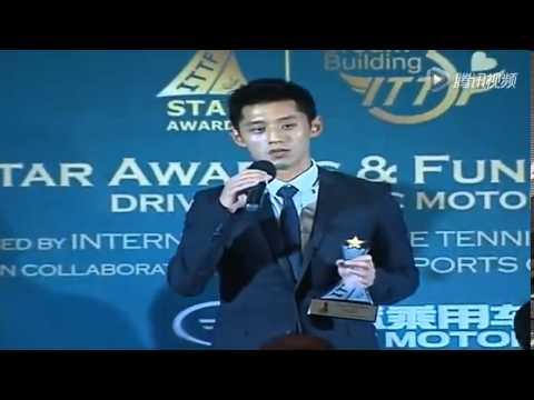 Zhang Jike speaking English