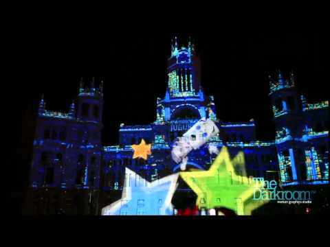 Feliz Navidad Madrid Mapping Projection