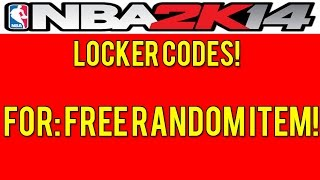 NBA 2K14 Locker Codes FREE Random Item! PS4/PS3/XBOX 360