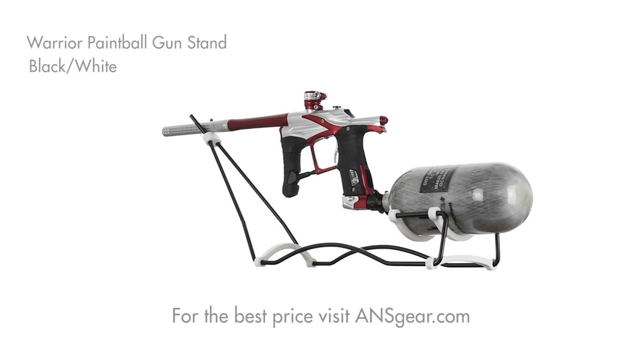 how to build a paintball gun stand