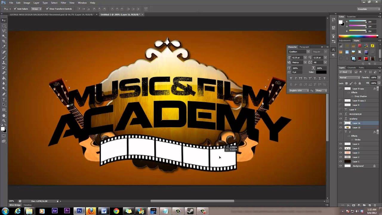 Graphic Logo Using Adobe Photoshop CS6 Professional Design Tutorial ...
