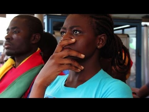 Fans in Ghana watch their team make early World Cup exit