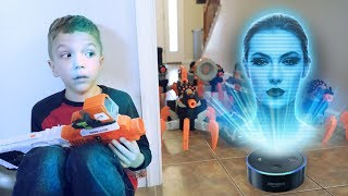 Nerf War:  Alexa Attacks
