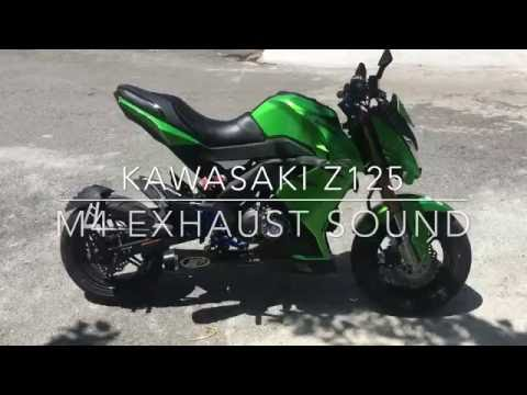Kawasaki Z125 PRO With M4 Exhaust Sound Test