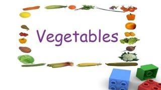 Names of vegetables for kids, vegetables flashcards