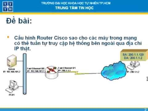 Dynamic NAT trên Router Cisco