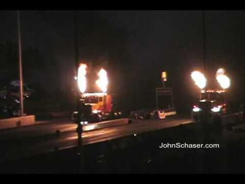 Bob Motz vs. Kent Shockley Jet Semi Truck Drag Race