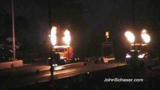 Bob Motz Vs. Kent Shockley Jet Semi Truck Drag Race