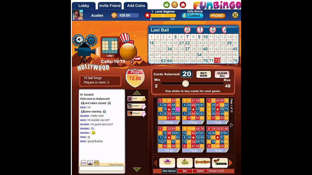 video bingo facebook game