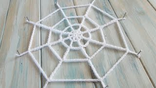 (crochet) How To Crochet A Spider's Web Yarn Scrap