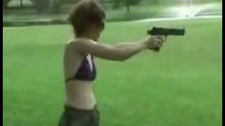 Girl Pwn3d By Desert Eagle .50 Magnum