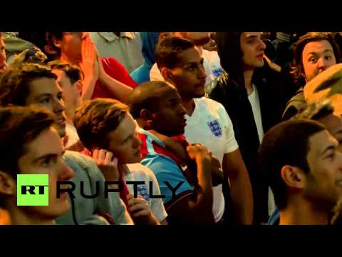 Brazil: England fans in damp spirits after Uruguay defeat