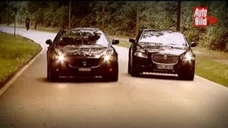 Jaguar XJ vs. Maserati Quattroporte GT S - Duell auf hohem Niveau videos