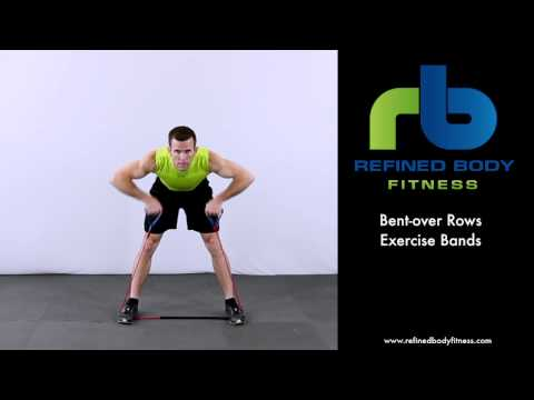 Bent over Rows Exercise Bands   Exercise Demonstration by Refined Body Fitness