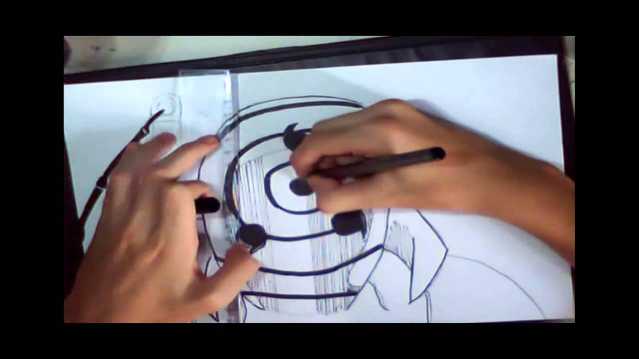 How to draw tobi mask obito madara youtube - Comment dessiner madara uchiwa ...