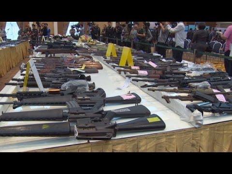 Thailand's military seizes thousands of guns