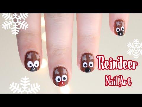 Cute Reindeer Nail Art - Aranyos szarvasos körmök