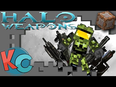 Minecraft: HALO WEAPONS w/ COMMAND BLOCKS!