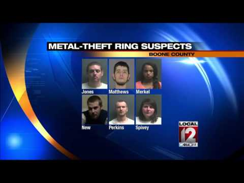 Six arrested for stealing copper from Duke Energy