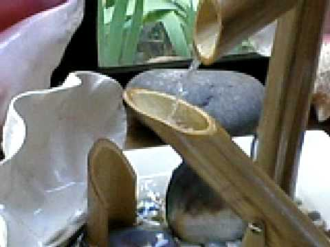 Fuente de agua con bambu 1 youtube - Motor de fuente de agua ...