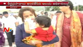 Manchu Lakshmi Visits Tirumala with Family