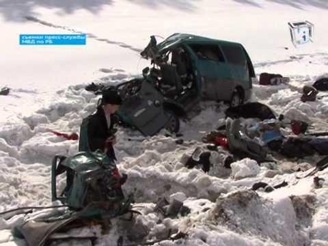 Автокатастрофа на трассе Сибай-Уфа