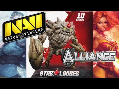 NaVi vs Alliance Star Ladder Star Series Season 10 Dota 2 RUS