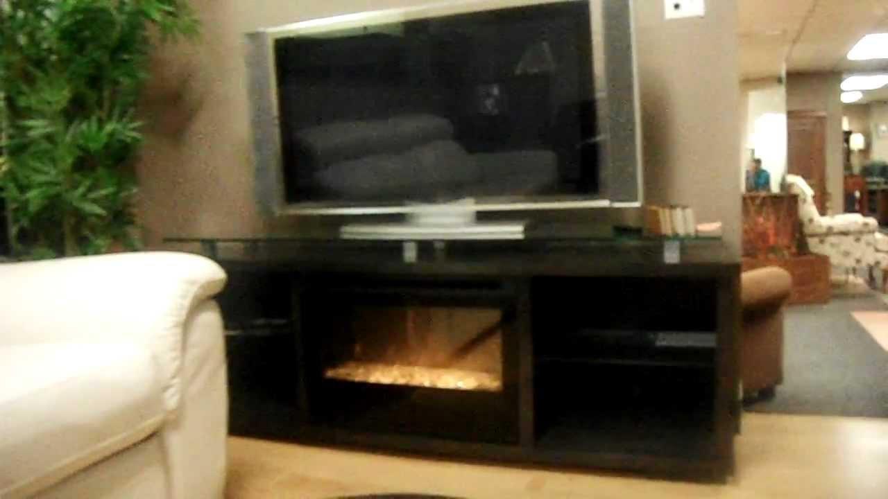 Meuble De T L Avec Foyer Artzein Com # Meuble Tv Avec Barre De Son Integree