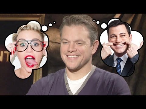 Miley Cyrus or Jimmy Kimmel? Who does Matt Damon SAVE?