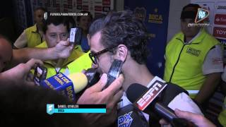 "Osvaldo: ""Estoy muy feliz"". Boca 2 - M. Wanderers 1. Copa Libertadores 2015. FPT."