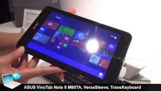 ASUS VivoTab Note 8, VersaSleeve And TransKeyboard (ENG