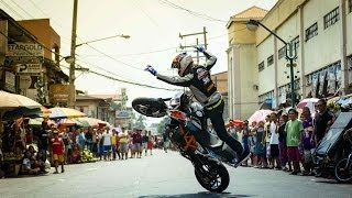 Aaron Colton's sportbike stunt riding through The Philippines