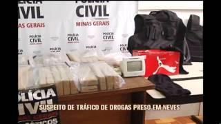 Preso suspeito de envolvimento no tr�fico de drogas em Ribeir�o das Neves